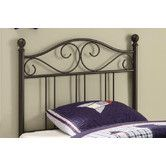 Found it at Wayfair - Bowdoin Transitional Twin Metal Headboard