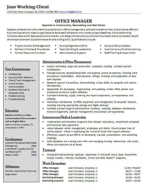 example resume for organizational change - Google Search