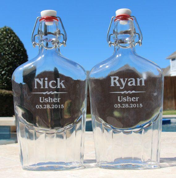 5 Groomsmen Gift Flask Gift Set by EverythingDecorated on Etsy