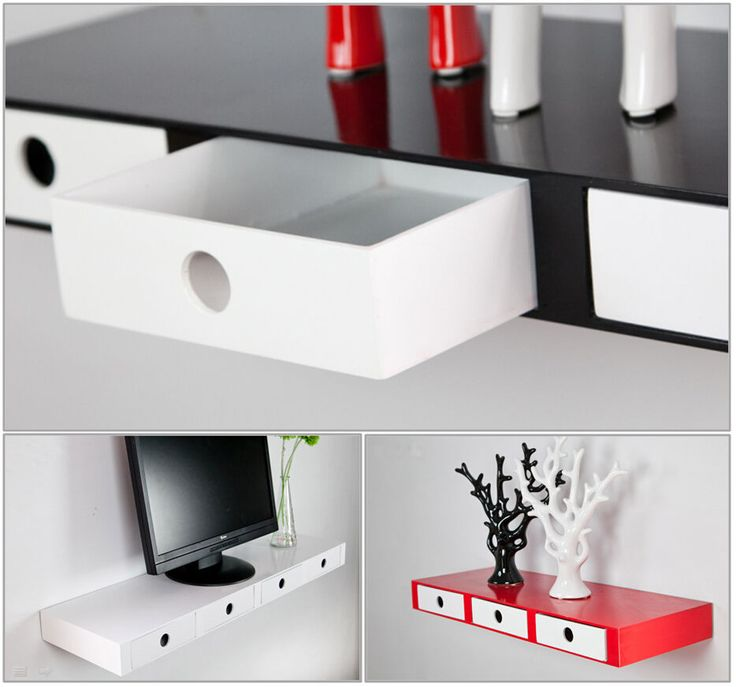 Details About High Gloss Floating Wall Shelves Cd Book