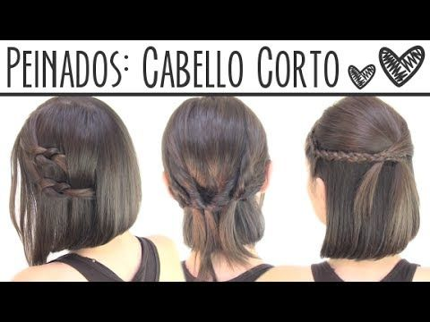 ▶ Peinados fáciles para cabello corto | Short hair hairstyles - YouTube