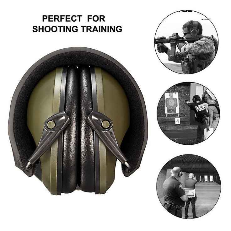NEW Anti-noise Impact Sport Hunting Tactical Earmuff Shooting Ear Protectors Hearing Protection Earmuffs