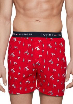 Tommy Hilfiger Men's Knit Boxers - Red - M