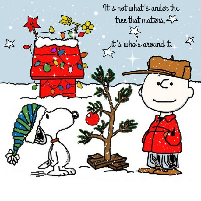 its not whats under the tree that matters its whos around itcharlie brown - Charlie Brown Christmas Decorations