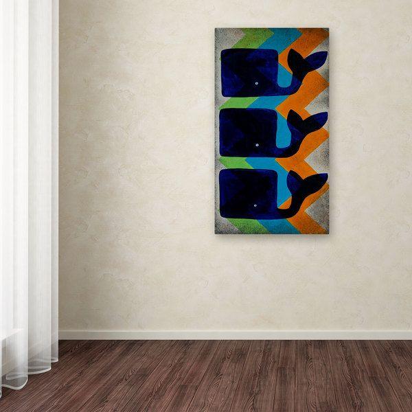 Nicole Dietz 'Whale Chevron' Canvas Art