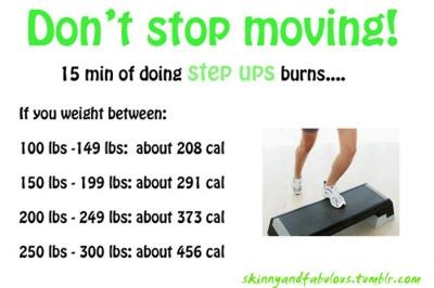!5 Minutes of Step Ups Burns..