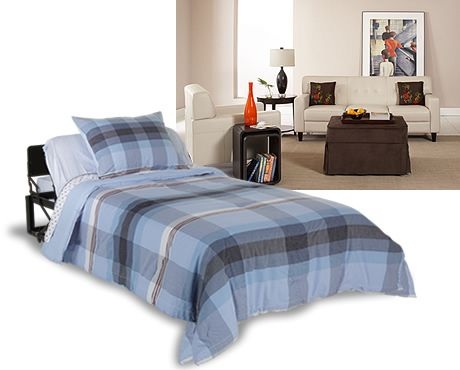 Ottoman fold away bedGuestroom,  Comforter