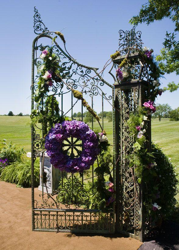 Purple Wedding, Wedding Ceremony, Garden Wedding, Decoration, Flowers || Colin Cowie Weddings
