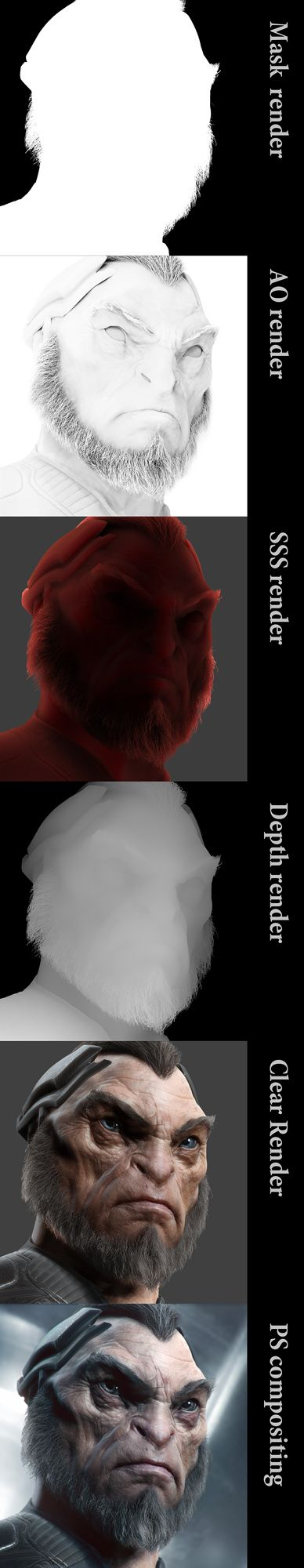 3D render by PSTCHOART using ZBrush 4 R3 Seeing Render Layers like this is always useful and helpful. Enjoy