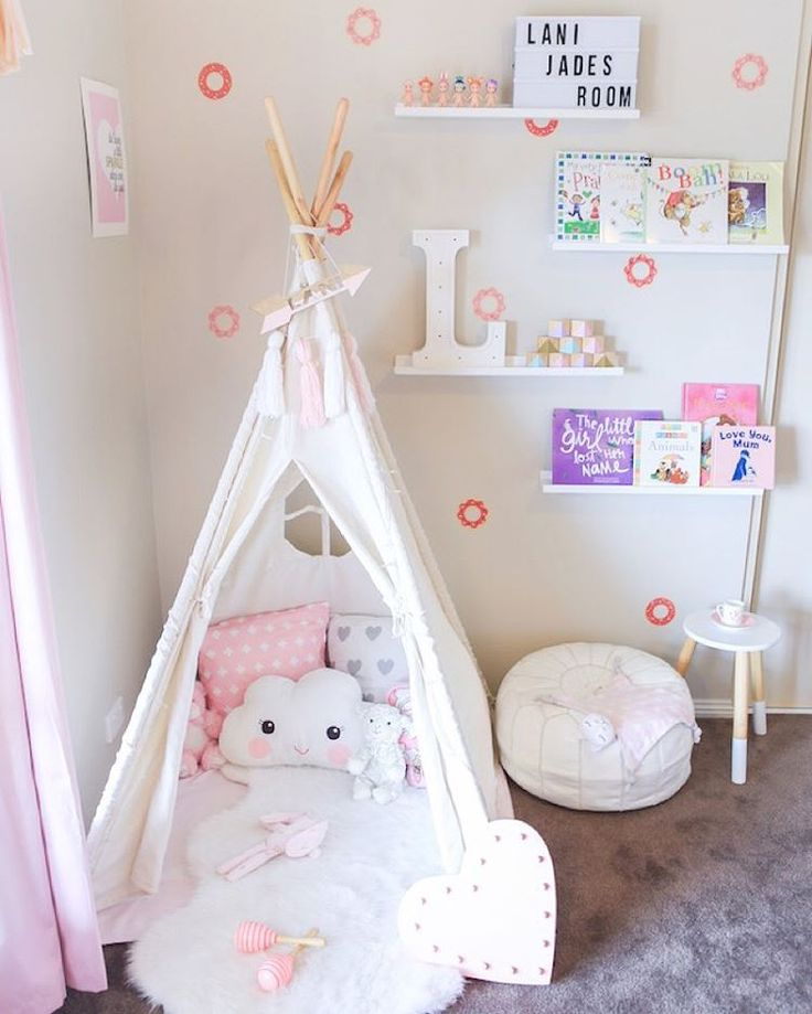 Cara & Lani Jade on Instagram: Teepee reading corner for playroom