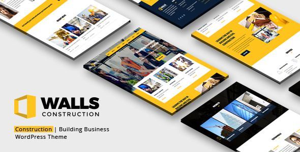 Walls WP - Construction WordPress Theme by TemeGUM Walls WP is a clean and fresh WordPress template designed for construction, building companies, renovation and remodeling contract