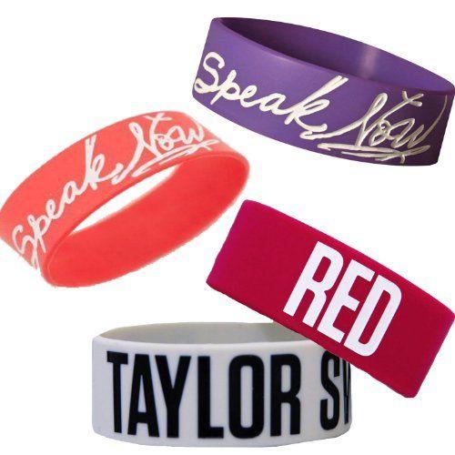 Taylor swift rubber bracelet party favors