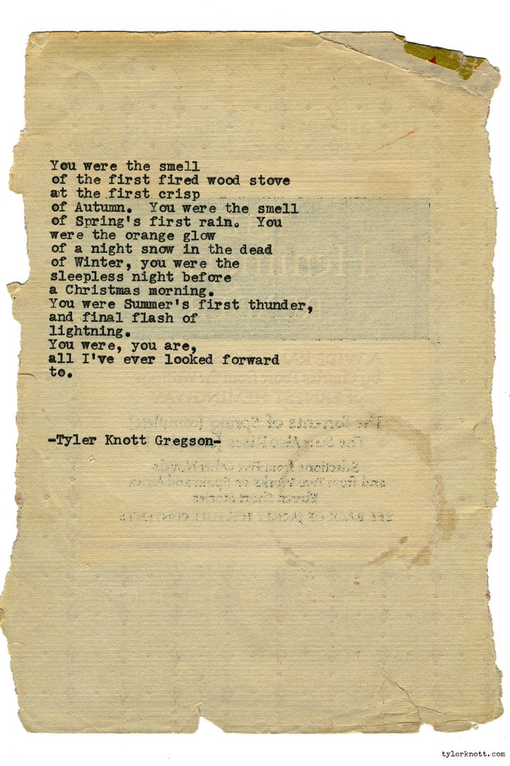 Typewriter Series #1511 by Tyler Knott Gregson Chasers of the Light & All The Words Are Yours are Out Now!