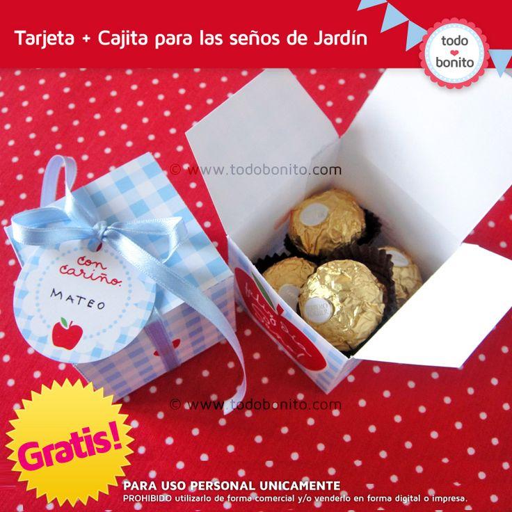 Regalo Día de la Maestra Jardinera / Imprimibles gratis!