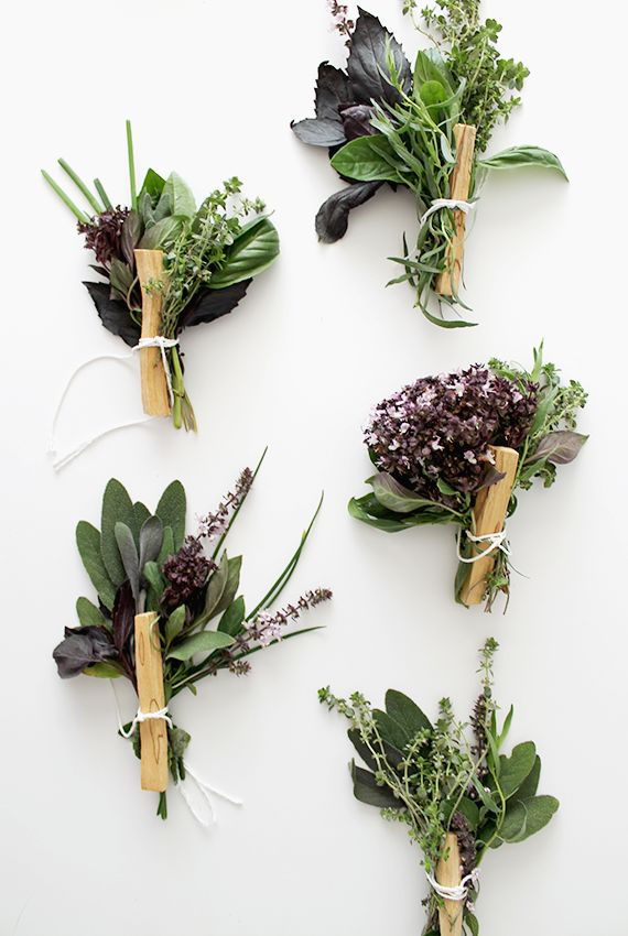 diy fresh herb bouquets | almost makes perfect