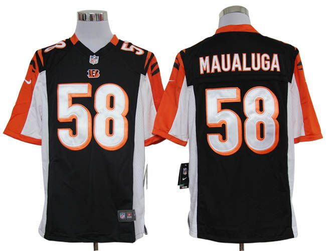 Nike NFL Jerseys Cincinnati Bengals Rey Maualuga #58 Black  Reliable online store for cheap NIKE NFL Cincinnati Bengals  Jerseys, 2012 New collection, top quality with most favorable price. please click: http://digjersey.com/nike-nfl-jerseys-cincinnati-bengals-c-129_133.html