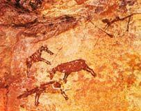 Arte parietal- pinturas rupestres (punturas sobre rocas utilizando los relieves) que se pintaban en las partes de la cueva donde era más difícil el acceso. Aunque tan bien podemos encontrar pinturas en la ropa y en las entradas a las cuevas.