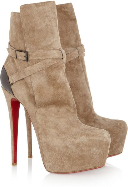 CHRISTIAN LOUBOUTIN Equestria 160 Platform Boots | ?? Zapatos y ...