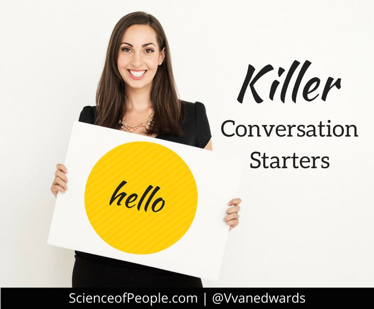 conversation starters When it comes to building conversation with teenagers, many dads don't know where to start so, i've created this list of conversation starters for you.