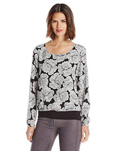 Wear To Work  Womens Petite Floral Print Knit Waist Blouse www.weartowork.us #weartowork #Blouse