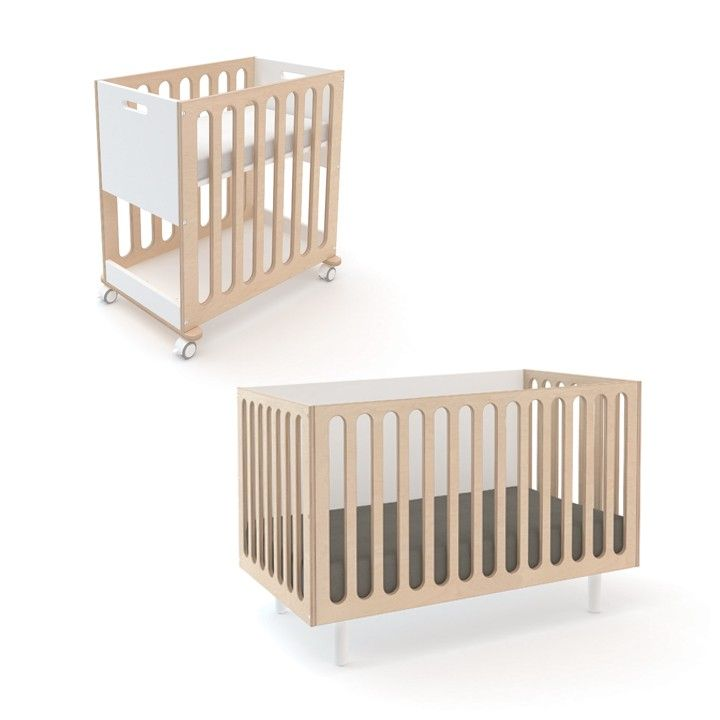 The Fawn crib and bassinet system starts as a bassinet on wheels and can be converted into a full sized crib. This modern, eco-friendly design is both practical and beautiful.     Bassinet mattress sold with system, crib mattress sold separately.