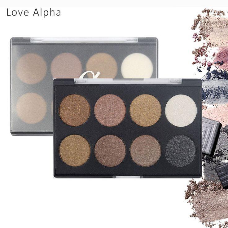 LIEFDE ALPHA 8 Kleuren Oogschaduw Palet Shimmer Matte Natuurlijke Mode Licht Make Up Oogschaduw Cosmetica Set Met Oogmake-up