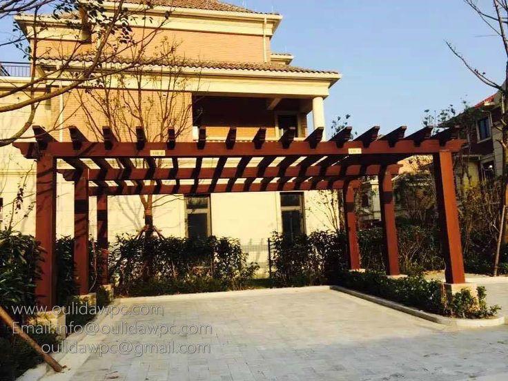 plastic wood pergola kits www.oulidawpc.com Email:info@oulidawpc.com;oulidawpc@gmail.com whatsapp:+86 13151641398