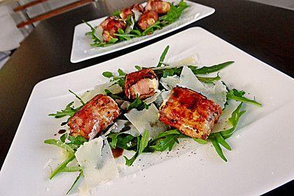 Gebratener Schafkäse im Speckmantel auf Rucola-Parmesan-Salat, ein schönes Rezept aus der Kategorie Fleisch & Wurst. Bewertungen: 135. Durchschnitt: Ø 4,5.