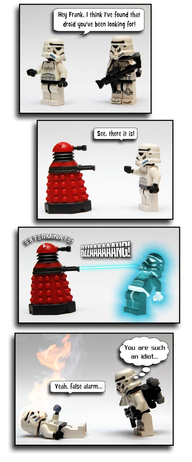 Stormtroopers meet a Dalek!