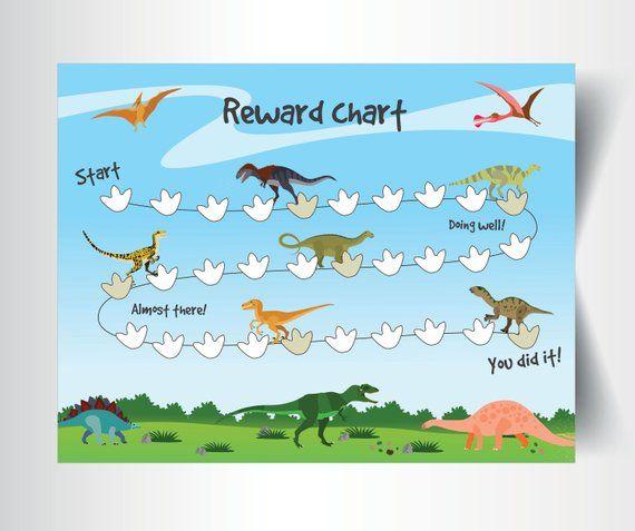Dinosaur Kids Chore Chart Poster Printable Wall Decor Etsy Chore Chart Kids Reward Chart Chores For Kids