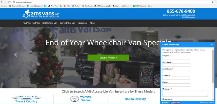 "Did you know that you can chat directly with our sales team right from our website? Scrolling through our inventory and have a specific question about our vans, rentals, deliveries, prices, financing, or equipment? Get quick responses from our Mobility Specialists that are ready to help! Visit www.amsvans.com or click the ""Shop Now"" button above! #livefree #livefreeAMS #accessiblevehicles #wheelchairvans #mobility #accessible #toyota #dodge #chrysler #volkswagen"