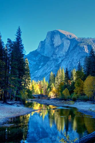 Half Dome - Yosemite Valley, California ( Ive hiked to the half dome and its breath taking)