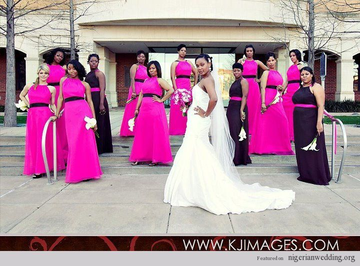 Black And Fuschia Bridesmaid Dresses | Wedding Gallery