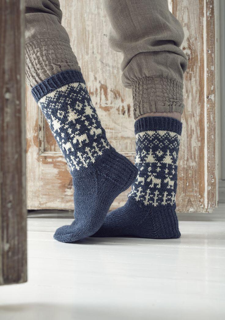 Villasukat Metsäretki Novita Nalle   Novita knits