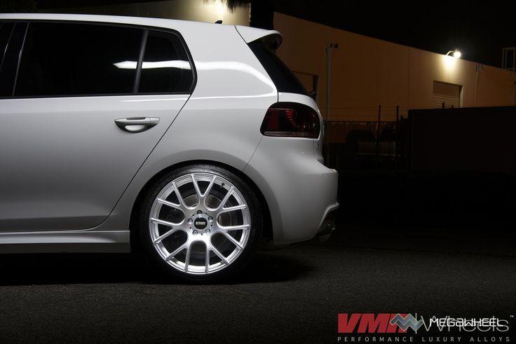 VMR | Wheels - V810 Hyper Silver on a Candy White VW Golf R   Part of our 2014 Flow-Form Series:  Hyper Silver V810's  18x8.5 all around    #диски #колеса #тюнинг #резина #шины #смотра #мегавил #драйв #ауди #мерседес #бмв #шкода #vw #audi #bmw #skoda #mercedes #wheels #rims #drive2 #audiclub #bmwclub #продамдиски #фитмент #megawheelrussia