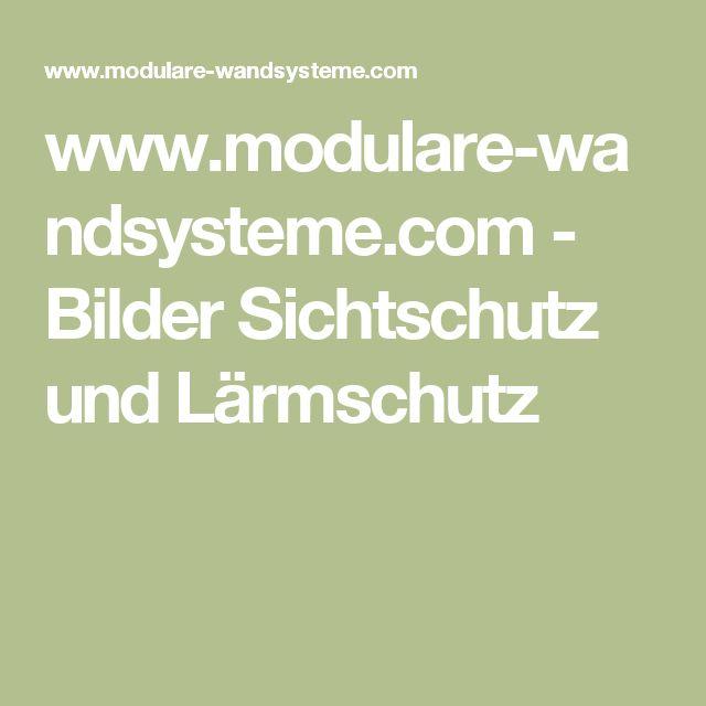 www.modulare-wandsysteme.com - Bilder Sichtschutz und Lärmschutz