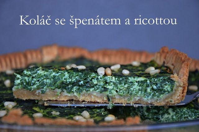 špenát, koláč, ricotta