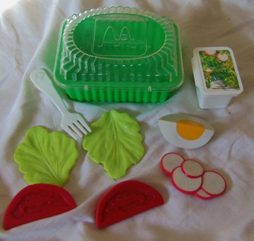 Fisher Price Fun with Food McDonald's Salad Set Vintage 1988 Made in USA | eBay