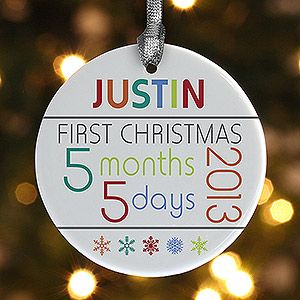 Baby's 1st Christmas Personalized Age Ornament - Christmas Ornaments - Christmas Ornaments