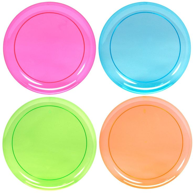 Neon Plastic Dinner Plates Assorted from BirthdayExpress ...