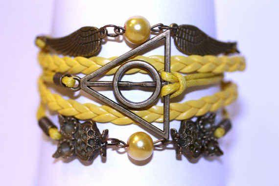Deathly Hallows Hufflepuff Bracelet
