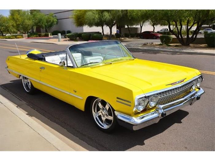 1963 Chevrolet Impala - Yellow Car