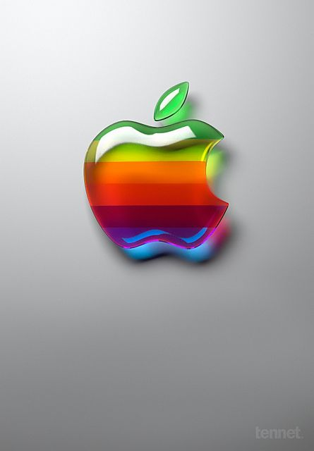 Old style Apple logo