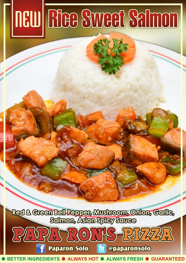 Menu Baru Rice Sweet Salmon Paparon Solo