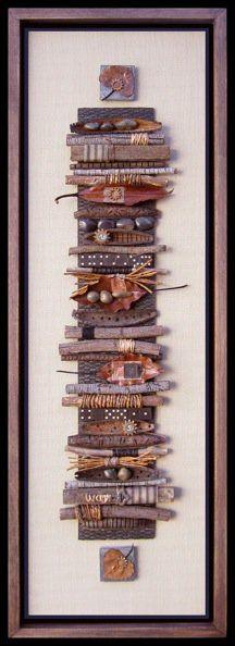 Bridget Hoff - Sticks - art from natural materials - multiple examples