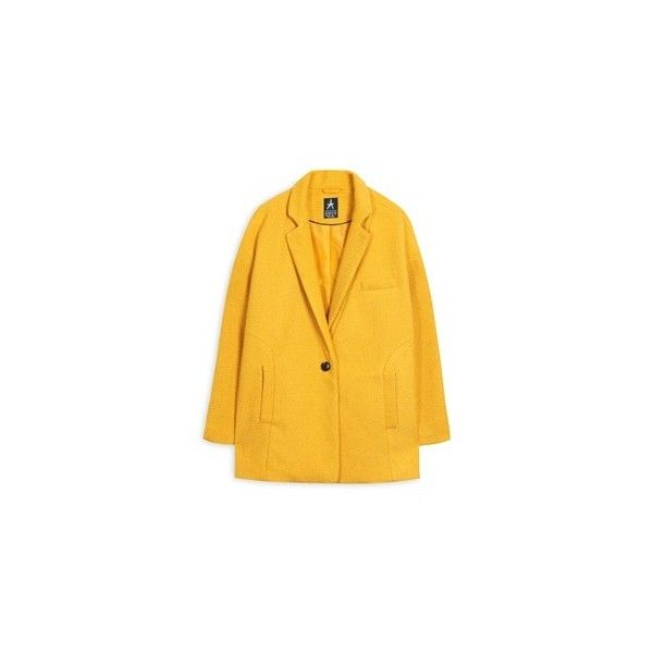 Primark - Coats & Jackets ❤ liked on Polyvore featuring outerwear, coats and yellow coats