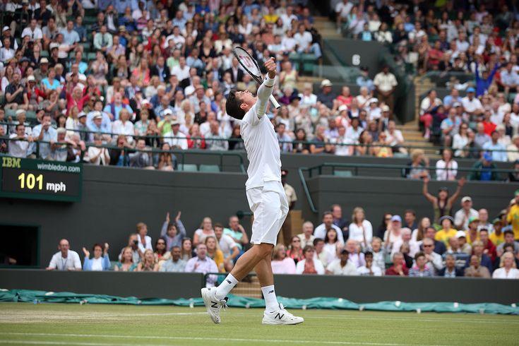 Milos Raonic celebrates on No.1 Court - Scott Heavey/AELTC