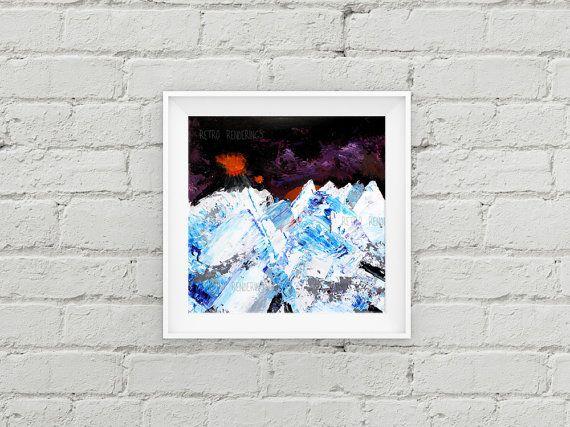 Radiohead Kid A art print painting poster