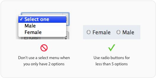 Select or radio buttons #ui