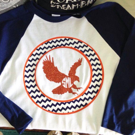 手机壳定制broken heart necklace Auburn circle eagle monogrammed baseball tee by PaisleyPromotions